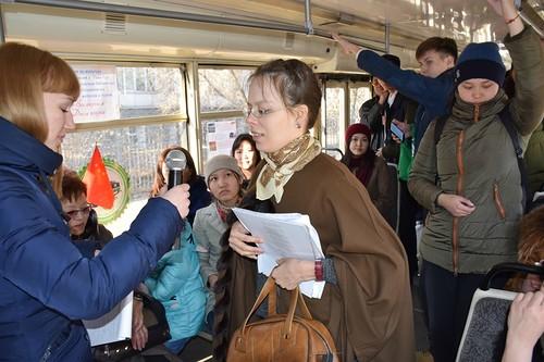 """Трамвай поэзии""  в Улан-Удэ"